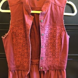 BKE red lace vest